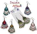 Peruvian beaded tear drop design earrings