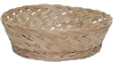 Wicker display basket made from hand woven bamboo wicker