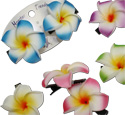 Tropical rose Plumeria Island Flower Hair Clip