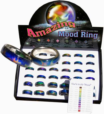 Liquid tribal mood rings