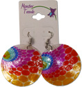 Tie Dye shell earrings