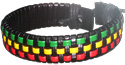Black and Rasta woven leather bracelets