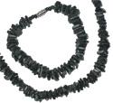Black puka shell bracelets and necklaces