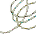 Crystal beaded white clam heishi jewelry