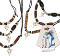 Coco beaded shark tooth necks