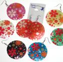 Floral shell earrings