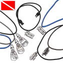 Pewter scuba accessory pendant on paracord necklace