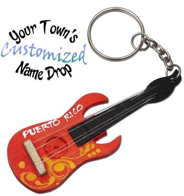 Electric guitar key rings