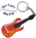 Electric guitar key rings