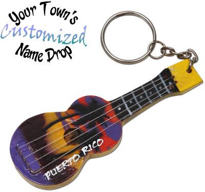 Acoustic guitar key rings