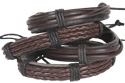 216pc leather bracelet 6 tube display, DK-278-LRX