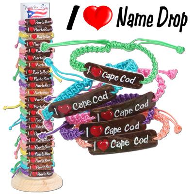 I heart name drop bracelets