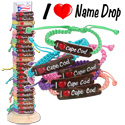 I heart name drop bracelets