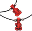 Red lobster pendant necks