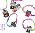 Critter shaped mood stretch bracelets and necklaces