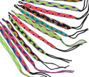 Peruvian friendship braided bracelets in neon color assortment