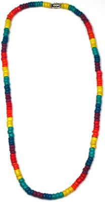 Rainbow coco bead necklace