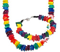 Rainbow color pukka shell bracelets or necklaces