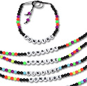Neon beaded name drop friendship bracelets
