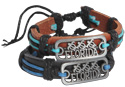 Name plate leather bracelets