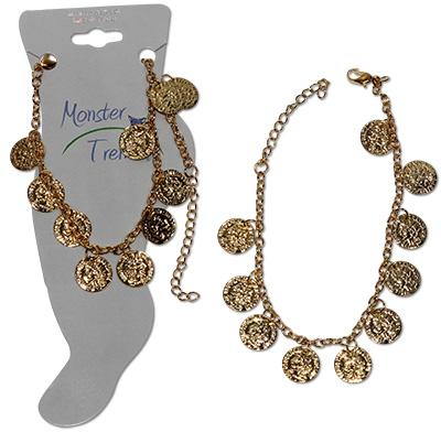 Golden coin dancing anklets