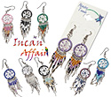 Peruvian beaded dream catcher earrings