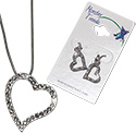 Crystal rhinestoned heart earrings and necklaces