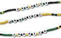 Glass beaded Jamaica bracelets