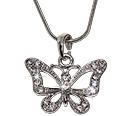 Crystal rhinestoned butterfly pendan