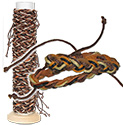 Monster Trendz Braided Natural Leather Bracelet