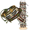 Hemp and leather men's bracelet