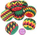 Rasta Guatemalan crochet footbags