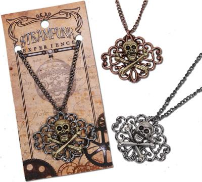 Steampunk Celtic skull pendant