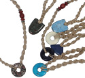 Semi-precious stone pendant on hemp necklace