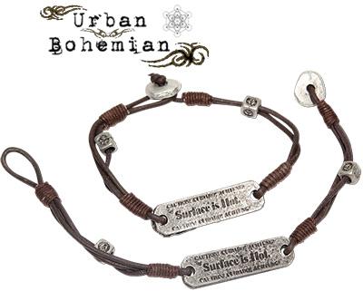 Urban Bohemian distressed leather double bracelet