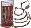 Urban Bohemian distressed leather bracelet display kit