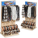 Shark tooth necklace and bracelet display kit