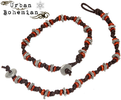Urban Bohemian distressed leather bracelet