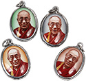 Monster Trendz Enamel Dalai Lama Pendants from Thailand on Leather Necklace