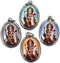 Monster Trendz Enamel Ganesh Pendants from Thailand on Leather Necklace