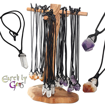 Crystal point necklace display kit