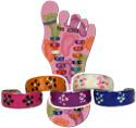 Daisy Pattern Enamel Toe Rings