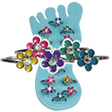 Enamel Daisy with AB crystal  Toe Ring by Tropical Rose