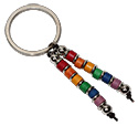 Ceramic Beaded Rainbow Key Ring by Tropical Rose
