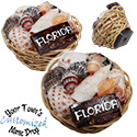 Name Drop Shell Basket Fridge Magnet by Tropical Rose