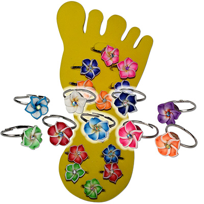 Fimo Daisy Toe Rings by Monster Trendz