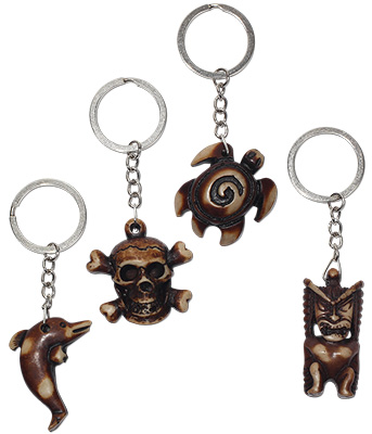 Polyresin pendant key chains