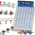 Assorted toe rings with free display by Monster Trendz
