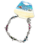 Paua shell dragonfly bracelet with CZ crystal decoration by Monster Trendz