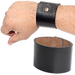 2 inch wide leather cuff bracelet